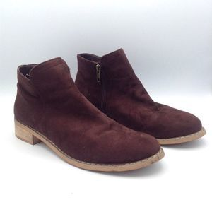 Seven 7 'Cisco Kid' Brown Faux Suede Ankle Boots